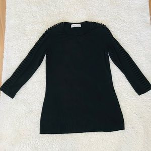 Bailey 44 slits cold sleeve top small